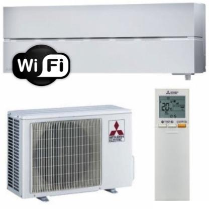 Oro kondicionierius/šilumos siurblys oras-oras Mitsubishi MSZ-LN25VGV/MUZ-LN25VGHZ (tekstūrinė balta) (-25°C)